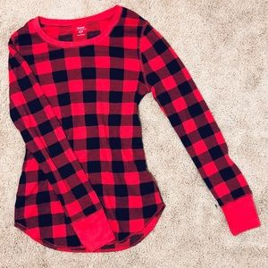 Old Navy tartan plaid long sleeve